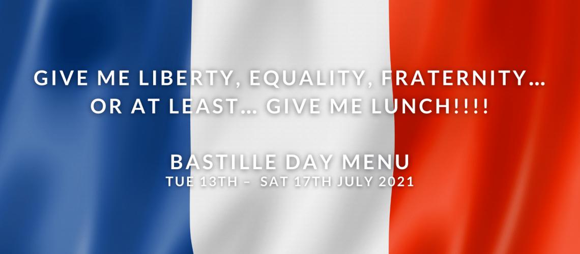 Bastille Day Menu 2021
